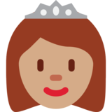 Princess: Medium Skin Tone on Twitter Twemoji 2.3