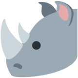 Rhinoceros on Twitter Twemoji 2.3