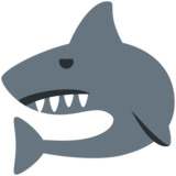 Shark on Twitter Twemoji 2.3