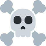 Skull and Crossbones on Twitter Twemoji 2.3