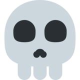 Skull on Twitter Twemoji 2.3