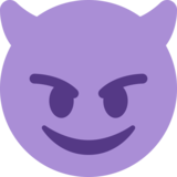 Smiling Face with Horns on Twitter Twemoji 2.3