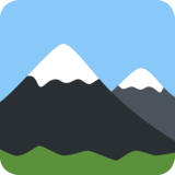 Snow-Capped Mountain on Twitter Twemoji 2.3