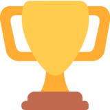 Trophy on Twitter Twemoji 2.3