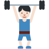 Person Lifting Weights: Light Skin Tone on Twitter Twemoji 2.3