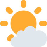 Sun Behind Small Cloud on Twitter Twemoji 2.3