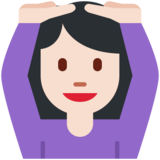 Woman Gesturing OK: Light Skin Tone on Twitter Twemoji 2.3