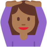 Woman Gesturing OK: Medium-Dark Skin Tone on Twitter Twemoji 2.3