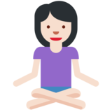 Woman in Lotus Position: Light Skin Tone on Twitter Twemoji 2.3