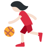 Woman Bouncing Ball: Light Skin Tone on Twitter Twemoji 2.3