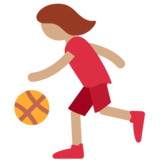Woman Bouncing Ball: Medium Skin Tone on Twitter Twemoji 2.3