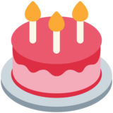 Birthday Cake on Twitter Twemoji 2.4