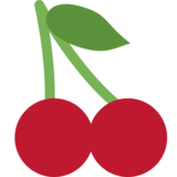 Cherries on Twitter Twemoji 2.4
