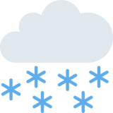 Cloud With Snow on Twitter Twemoji 2.4
