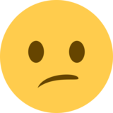 Confused Face on Twitter Twemoji 2.4