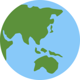 Globe Showing Asia-Australia on Twitter Twemoji 2.4
