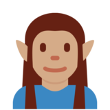 Elf: Medium Skin Tone on Twitter Twemoji 2.4