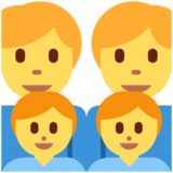 Family: Man, Man, Boy, Boy on Twitter Twemoji 2.4