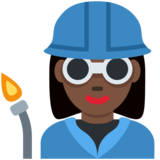 Woman Factory Worker: Dark Skin Tone on Twitter Twemoji 2.4