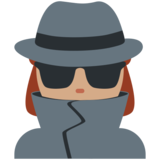 Woman Detective: Medium Skin Tone on Twitter Twemoji 2.4
