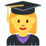 Woman Student on Twitter Twemoji 2.4