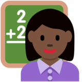 Woman Teacher: Dark Skin Tone on Twitter Twemoji 2.4
