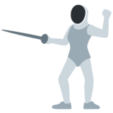 Person Fencing on Twitter Twemoji 2.4