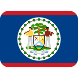 Flag: Belize on Twitter Twemoji 2.4