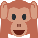 Hear-No-Evil Monkey on Twitter Twemoji 2.4