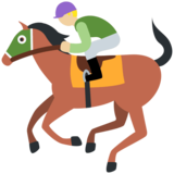 Horse Racing: Medium-Light Skin Tone on Twitter Twemoji 2.4