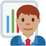 Man Office Worker: Medium Skin Tone on Twitter Twemoji 2.4