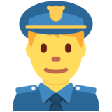 Man Police Officer on Twitter Twemoji 2.4