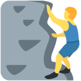Man Climbing on Twitter Twemoji 2.4