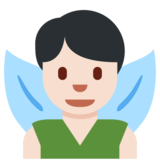 Man Fairy: Light Skin Tone on Twitter Twemoji 2.4