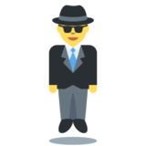 Man in Suit Levitating on Twitter Twemoji 2.4