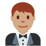 Person in Tuxedo: Medium Skin Tone on Twitter Twemoji 2.4