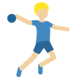 Man Playing Handball: Medium-Light Skin Tone on Twitter Twemoji 2.4