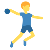 Man Playing Handball on Twitter Twemoji 2.4