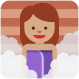 Person in Steamy Room: Medium Skin Tone on Twitter Twemoji 2.4