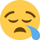 Sleepy Face on Twitter Twemoji 2.4