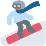 Snowboarder: Medium-Dark Skin Tone on Twitter Twemoji 2.4