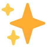 Sparkles on Twitter Twemoji 2.4