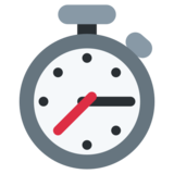 Stopwatch on Twitter Twemoji 2.4