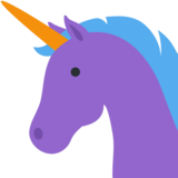 Unicorn Face on Twitter Twemoji 2.4