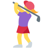 Woman Golfing on Twitter Twemoji 2.4