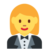 Woman in Tuxedo on Twitter Twemoji 2.4