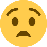 Anguished Face on Twitter Twemoji 2.5