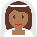 Bride With Veil: Medium-Dark Skin Tone on Twitter Twemoji 2.5