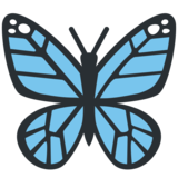 Butterfly on Twitter Twemoji 2.5