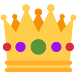 Crown on Twitter Twemoji 2.5
